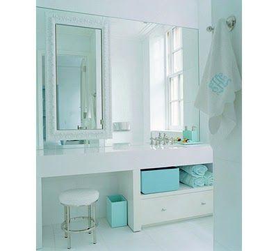 Tiffany Blue Bathroom Decorar Baños