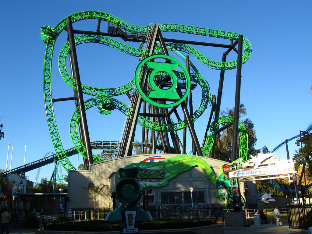 World Of Coasters Theme Park Green Lantern Travel Pictures