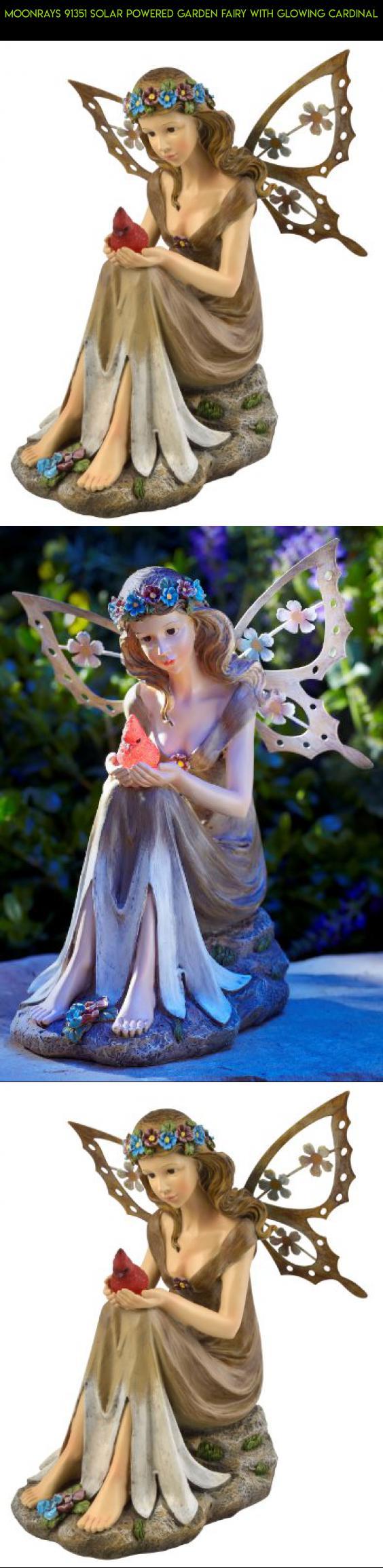 Moonrays 91351 Solar Ed Garden Fairy With Glowing Cardinal Camera Decor Unique