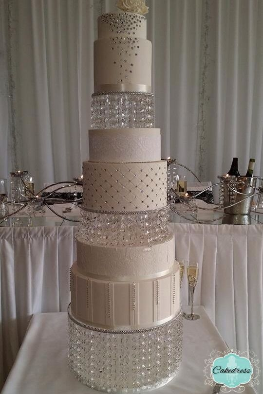 3 Tier Round Crystal Weddding Cake Stand Www Cakedress