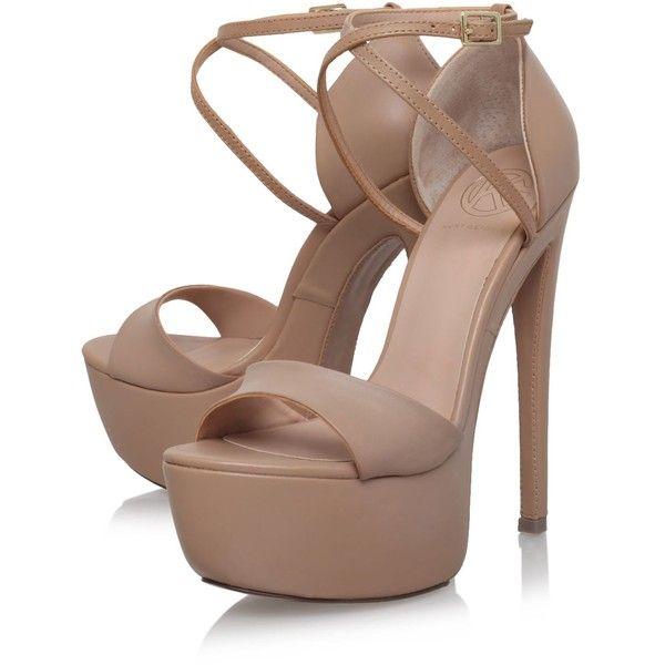 Nanette Nude High Heel Platform Sandals By KG Kurt Geiger