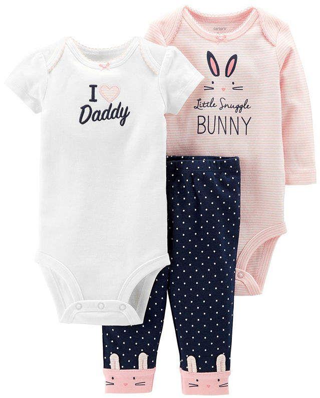 Little Baby Basics 3-pc. Layette Set-Baby Girls  Basics Baby Carter ... 1a5743c167d5