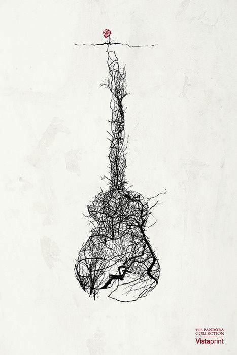 Roots Guitar By Jeff Langevin Tattoo Ideas Tatouage Tatouage