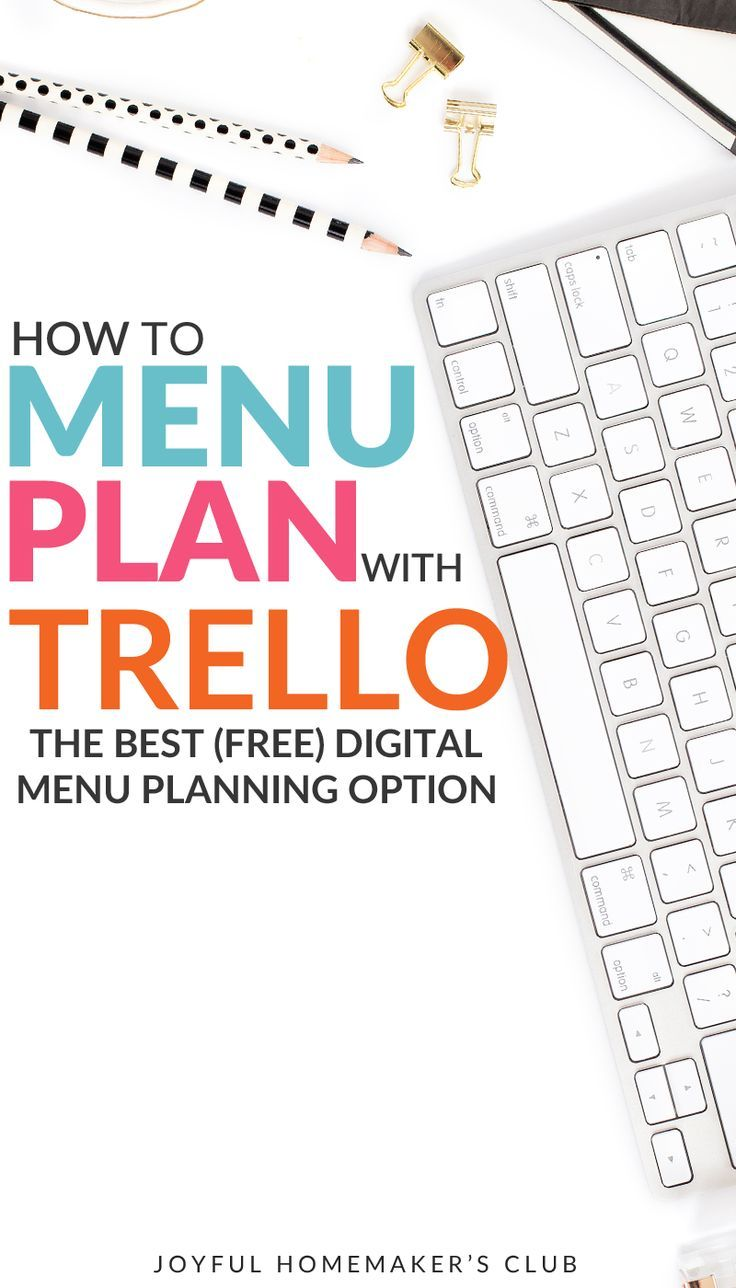 How to Menu Plan with Trello