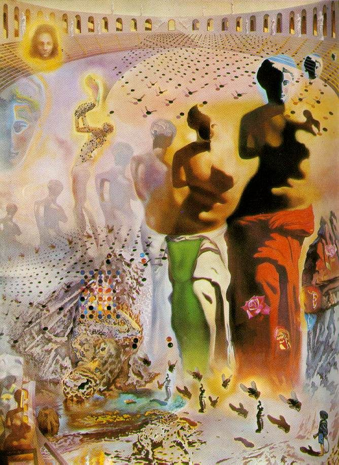 Christ in Perspective Salvador Dali Reproduction Art Print A4 A3 A2 A1
