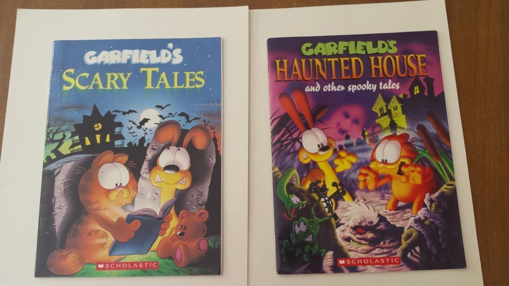 Garfields Scary Tales And Haunted House Paperback Books Garfield The Cat Scary Tales Halloween Coloring Book Halloween Books