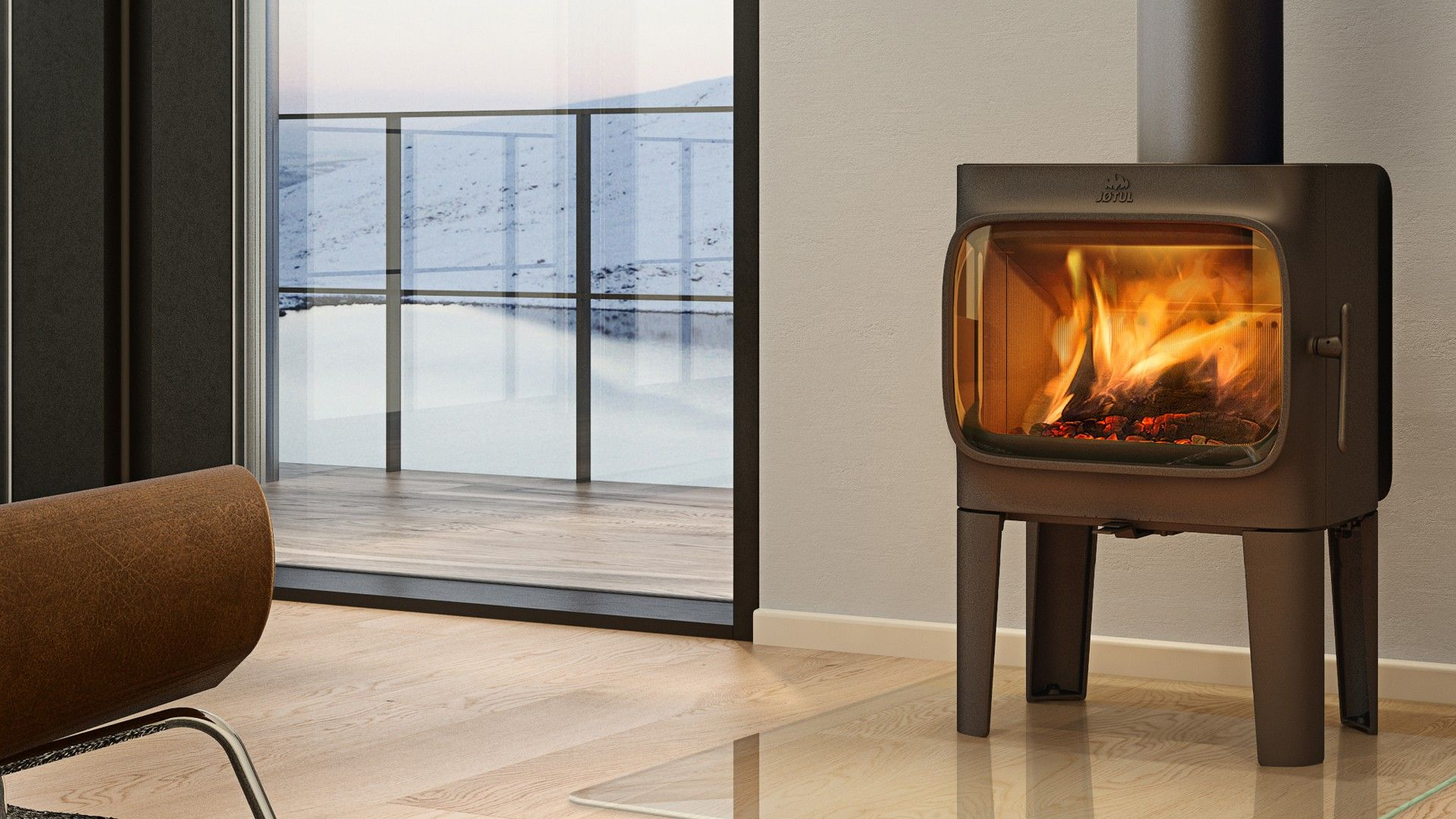 The Jotul F305 woodburningstove here offering redifining what a