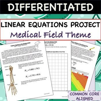 Linear Equations Project Algebra In The Medical Field Linear