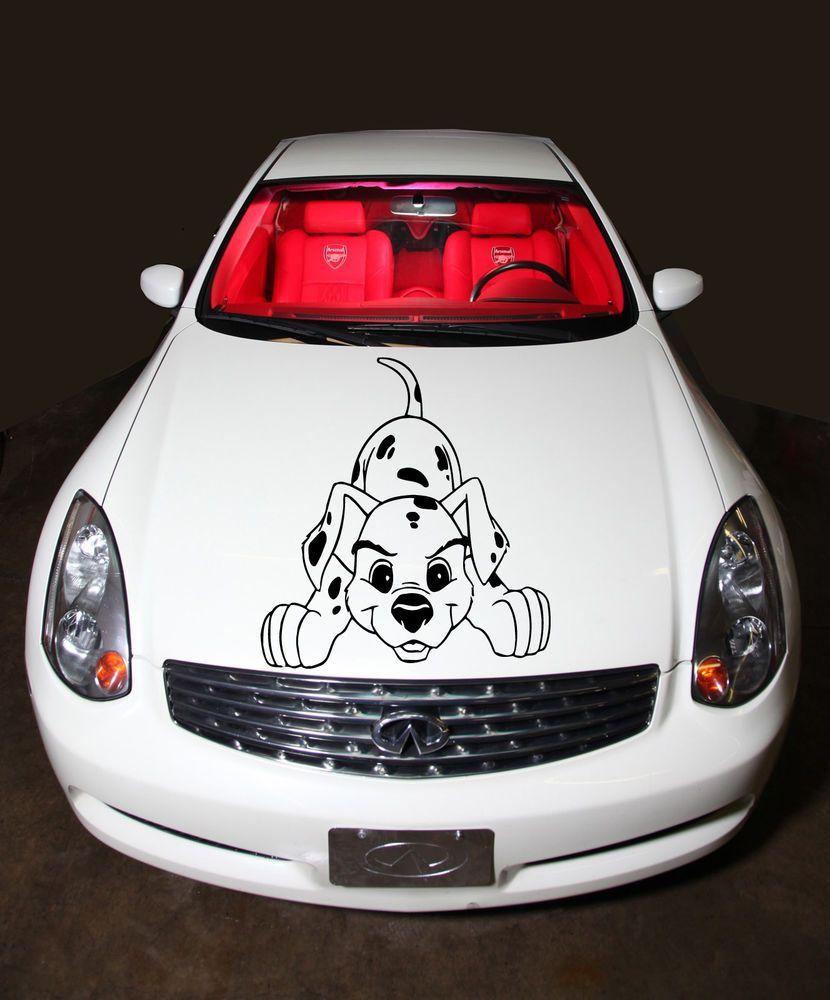 Cute car sticker designs - Pyppy Dalmatian Dog Cute Design Car Hood Vinyl Sticker Decals Graphics Co2