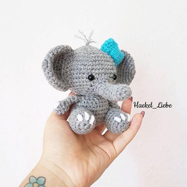 Mini Elefant Elephant Elefant Haekellieb Wunschkind