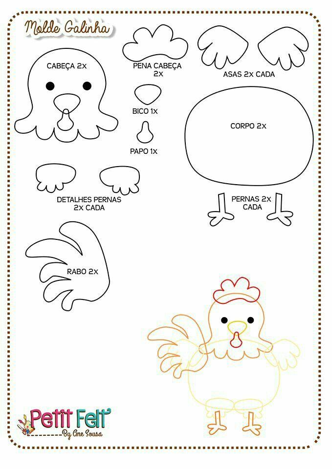 Molde gallina   cumple bauti   Pinterest