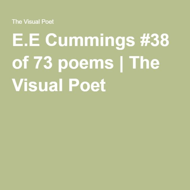 EE Cummings 38 Of 73 Poems