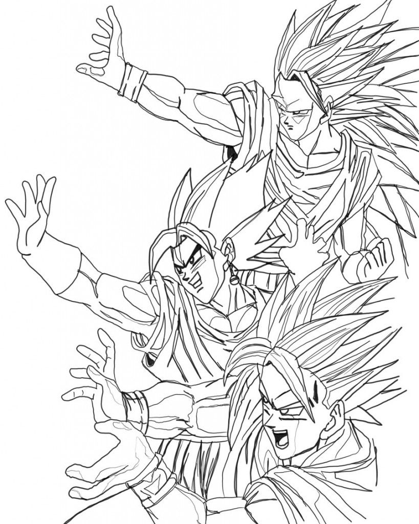 nice Dragon Ball Z Free Coloring Pages to Print   Anime Coloring ...