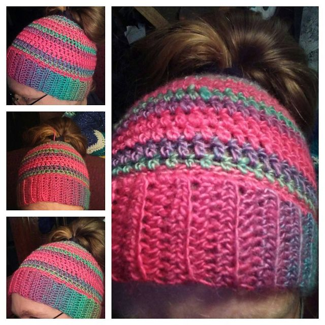 Messy Hair Bun Hat Pattern By Kayla Rollin Ponytail Crochet And Group