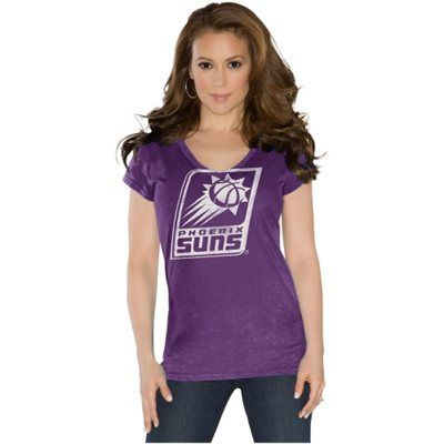 Touch by Alyssa Milano Phoenix Suns Ladies Field Goal V-Neck T-Shirt - Purple