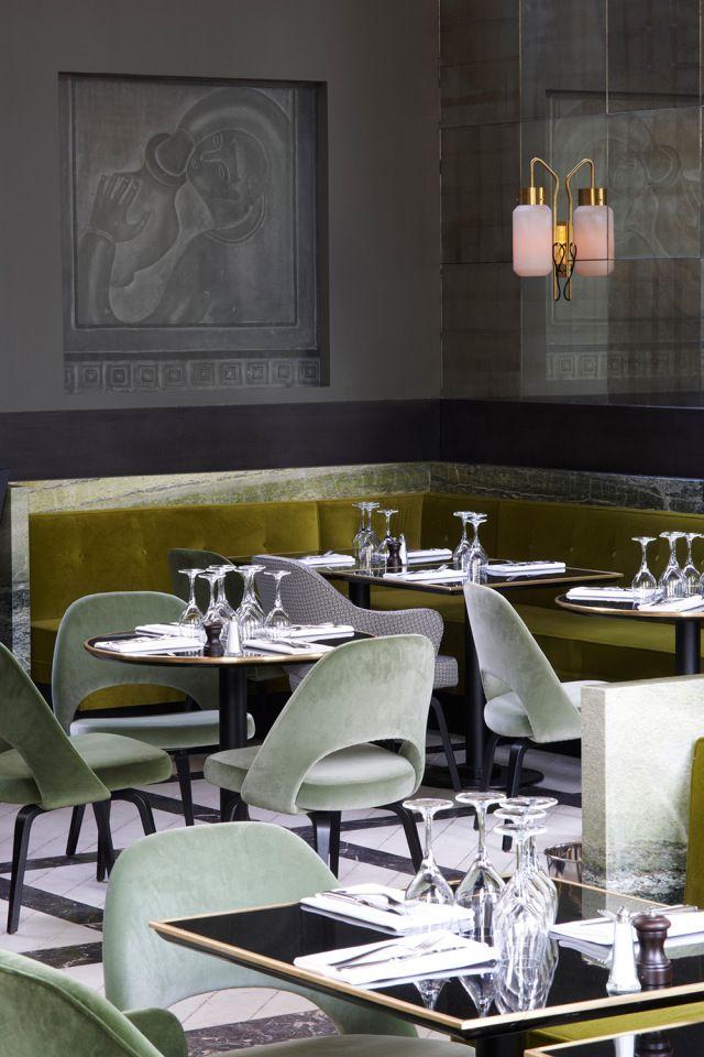Monsieur Bleu Restaurant At The Palais De Tokyo In Paris France Luxury Restaurant Interior Restaurant Interior Restaurant Interior Design