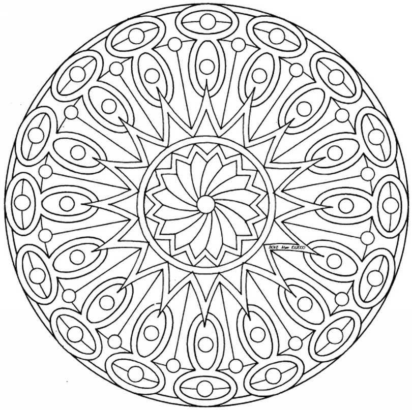 Mandalas Para Pintar Imprimir Y Colorear A Traves De Las Diferentes Combinaciones De Colores Los Mandala Mandalas Originales Mandalas Para Colorear Mandalas