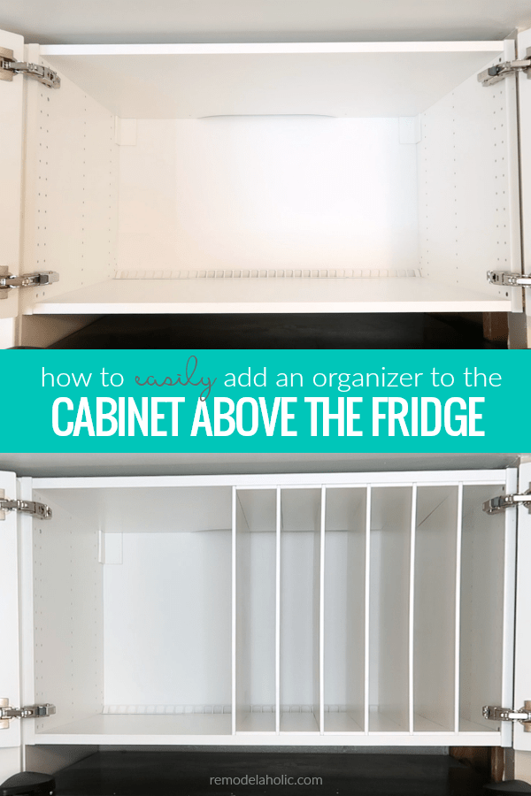 What Can You Store Above The Fridge This Diy Over The Fridge Cabinet Organizer Is Perfect For Ikea Kitchen Storage Kitchen Furniture Storage Ikea Hack Kitchen