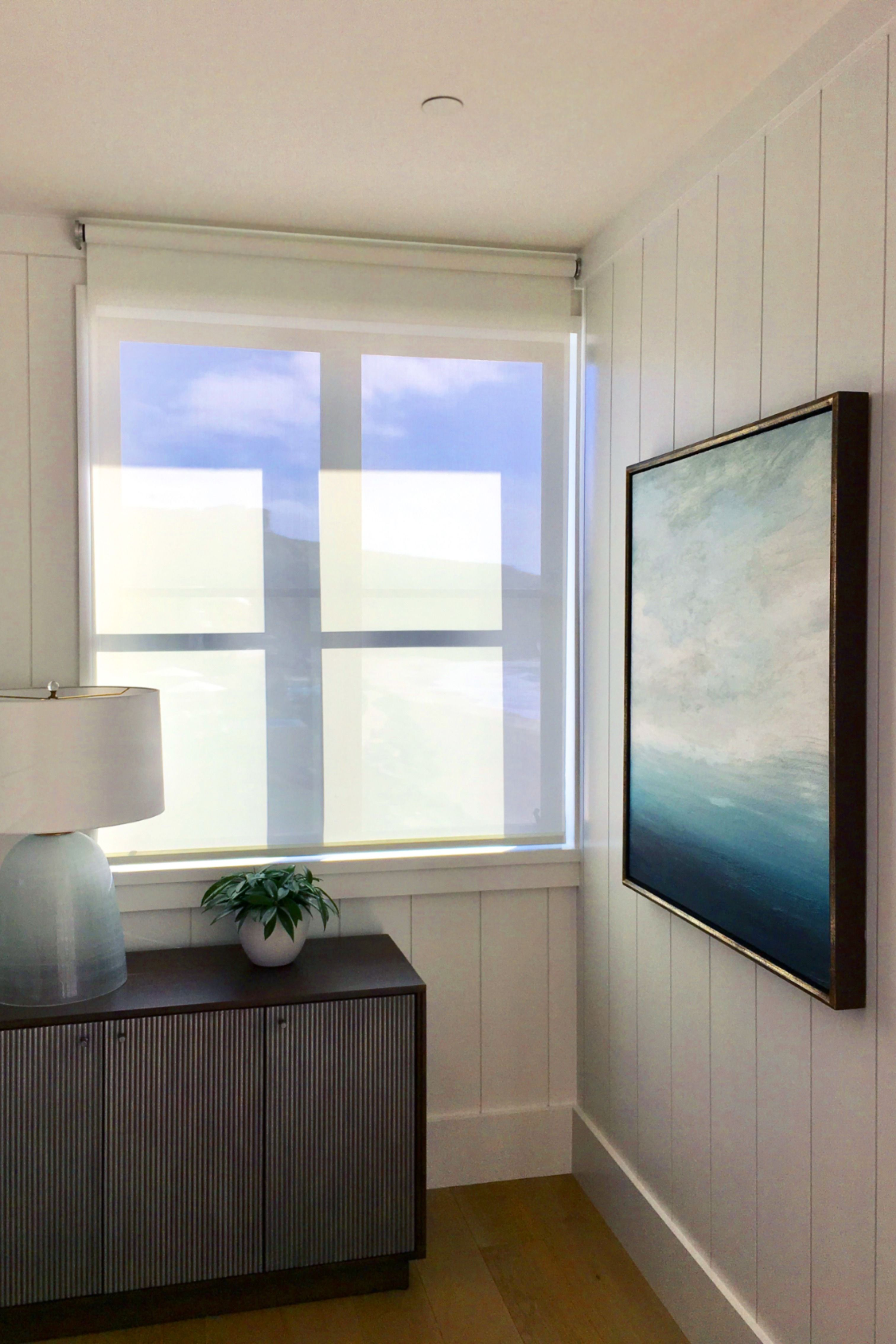 Motorized R Series Shade By J Geiger Is Programmed To Stop At The Bottom Of This Window Leavi In 2020 Bedroom Design Inspiration Motorized Window Shades Window Shades