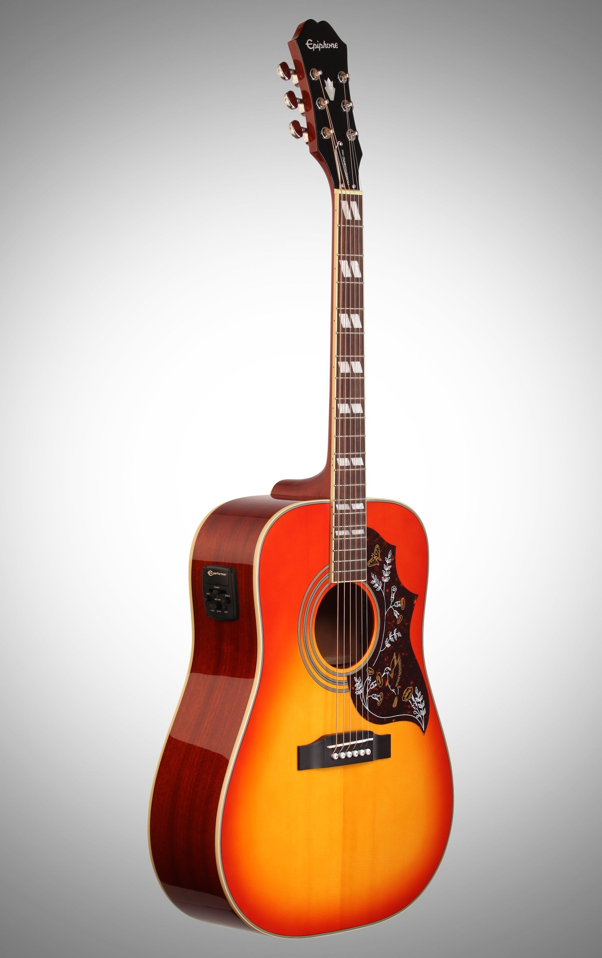Epiphone hummingbird pro acousticelectric guitar with