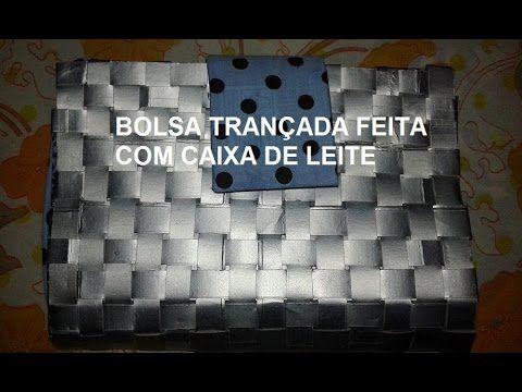190213445 Bolsa trançada feita com caixa de leite♥♥♥ | Bolsas | Reciclar ...