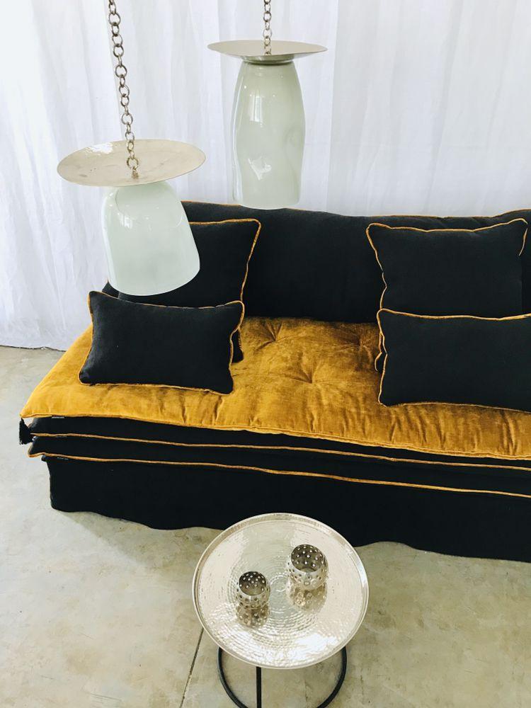 Sofa Cover Sur Mesure Housse Canape Deco Maison Canape Beige