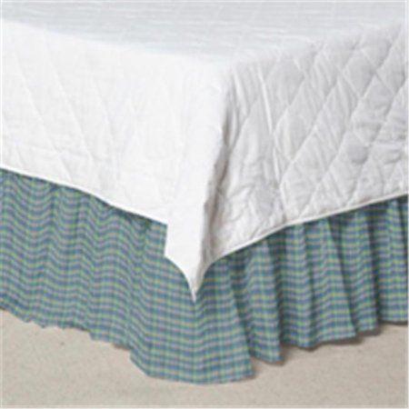 Patch Magic DRTW065F Blue Aqua And Pink Plaid, Fabric Dust Ruffle Twin, Multicolor