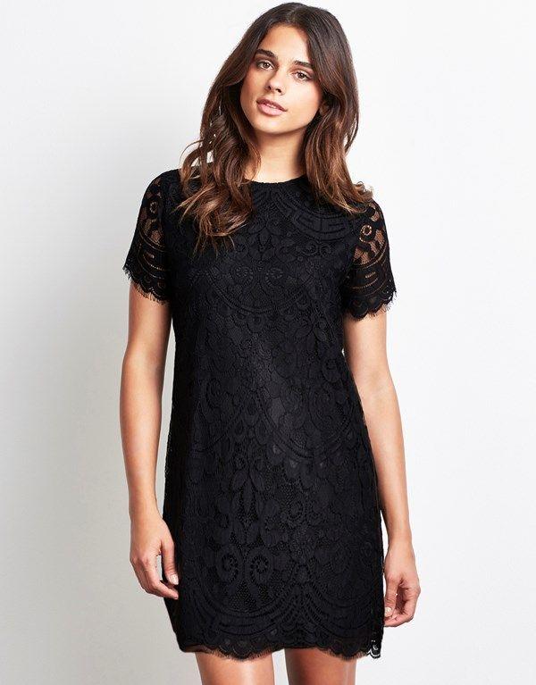 41++ Black lace shift dress info