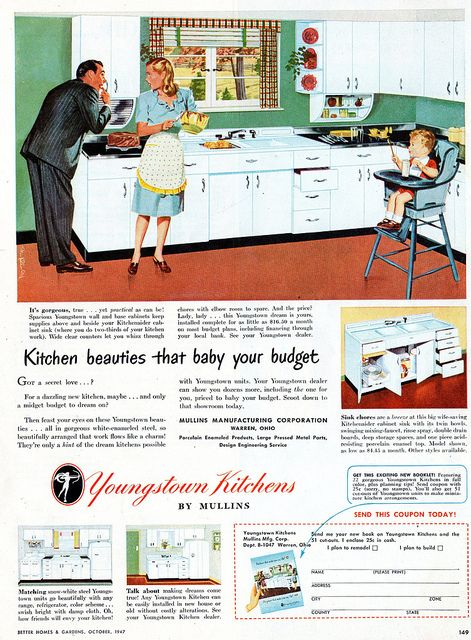Kitchen Beauties That Baby Your Budget House Plans With Pictures Vintage Kitchen Vintage Advertisements