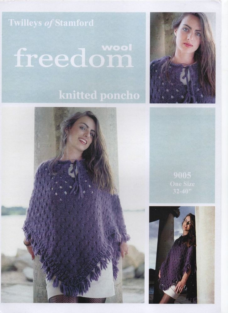 TWILLEYS megachunky HIPPY CHIC PONCHO kntting pattern | Hippie chic ...