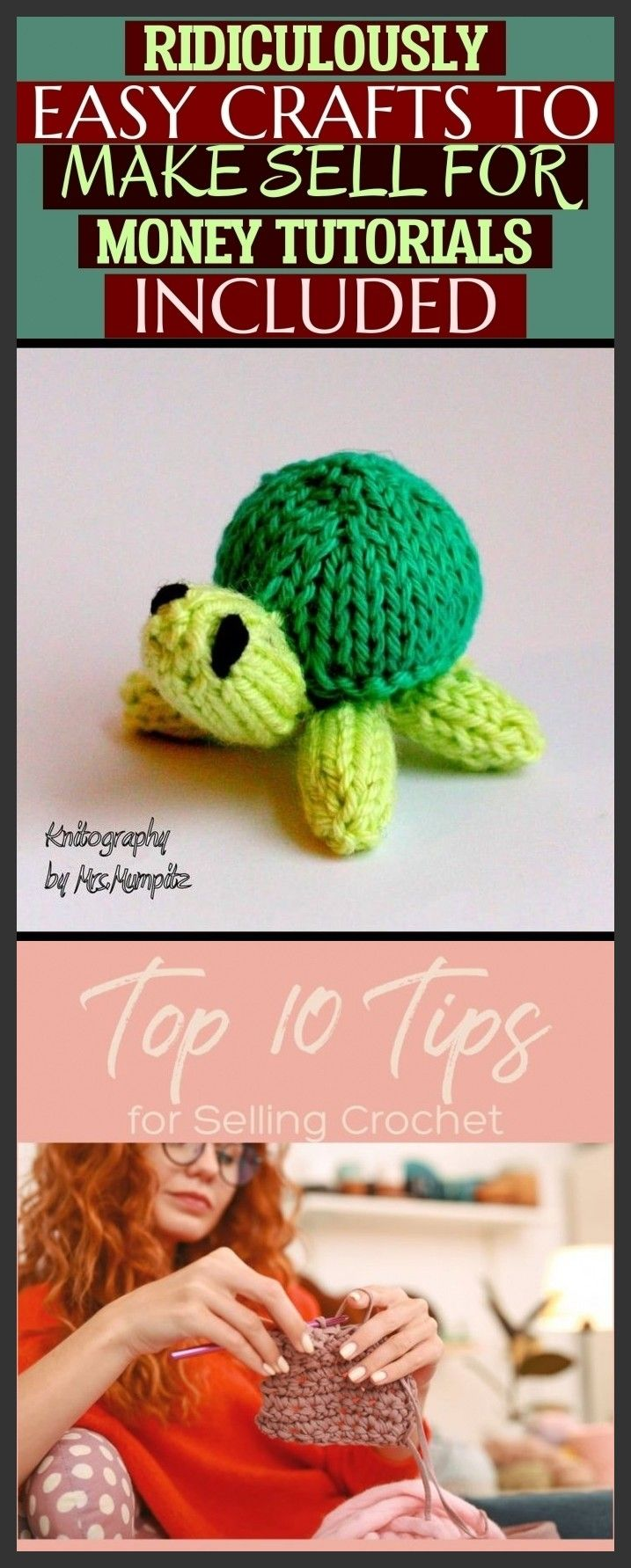 Ridiculously Easy Crafts To Make Sell For Money Tutorials Included #crochetformoney