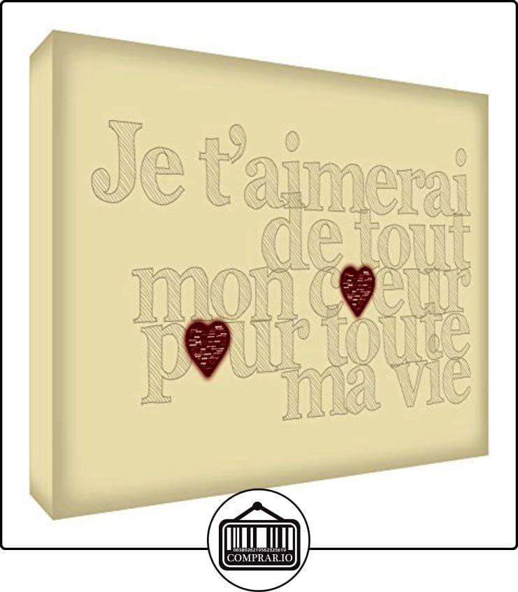 Feel Good Arte Te quiero de todo corazón para toda mi vida decorativo de acrílico Bloquear Cream 21 x 14 x 2 cm  ✿ Regalos para recién nacidos - Bebes ✿ ▬► Ver oferta: http://comprar.io/goto/B00ZZW6C1O