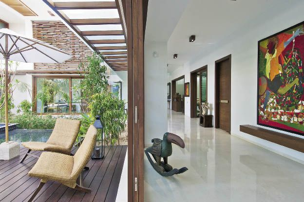 The courtyard house inside outside magazine also architecture indian rh pinterest