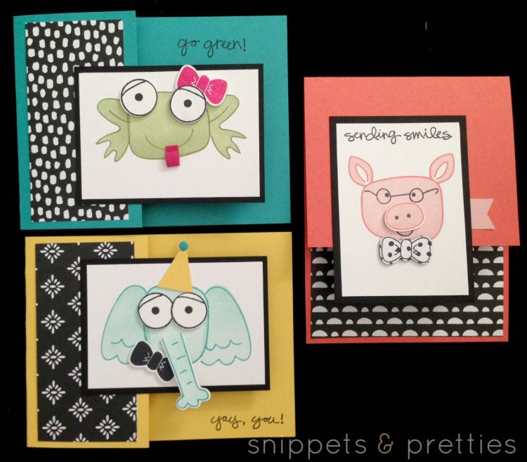 Snippets and Pretties: April 2016 These Playful pals cards are so Adorable!