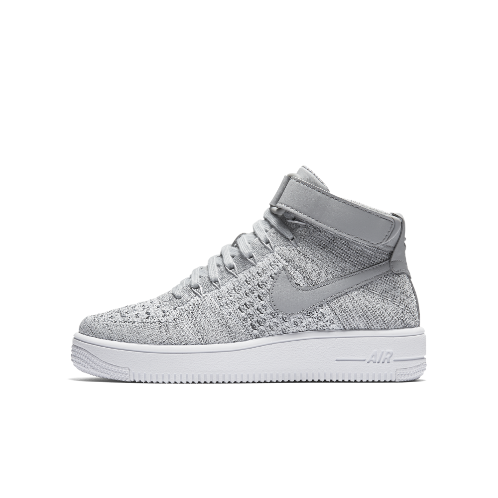 3788645e083 Nike Air Force 1 Ultra Mid Flyknit Big Kids  Shoe Size 6.5Y (Grey) -  Clearance Sale