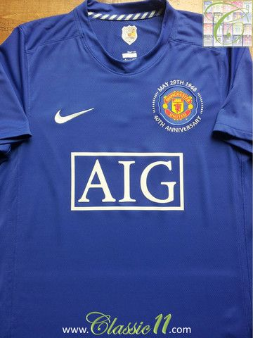 2008 09 Man Utd 3rd Football Shirt L Futbol