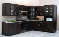 cocina integral color wengue moderna - Buscar con Google | cocinas ...