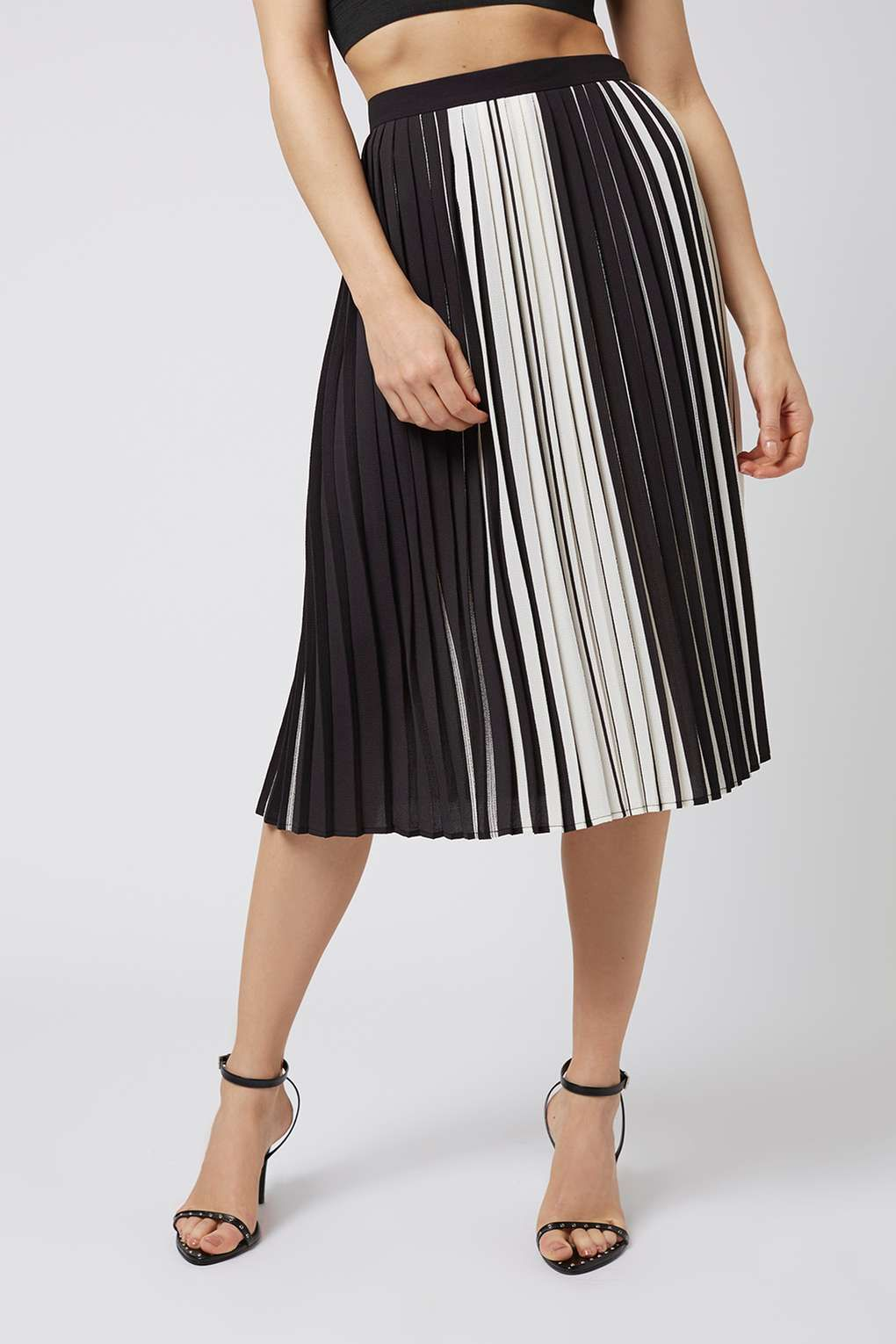 Pleated Midi Skirt - Silver foil Love Sale Real Clearance Pay With Visa Pay With Visa Cheap Price Online Sale Manchester For Sale uY2PQE5m