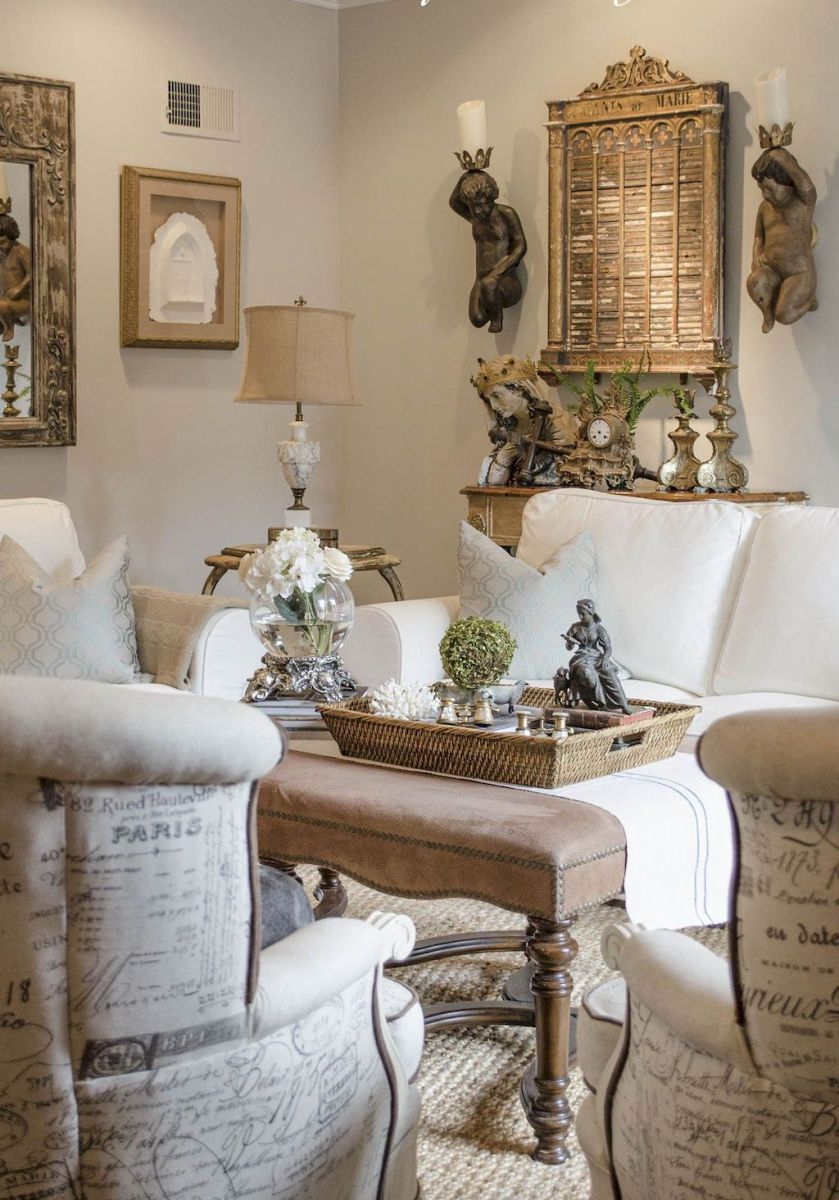 Stunning French Country Living Room Decor Ideas 43 French