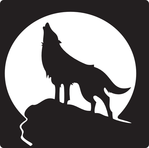 free clip art wolves howling wolf clip art vector clip art rh pinterest com wolf howling clipart black and white