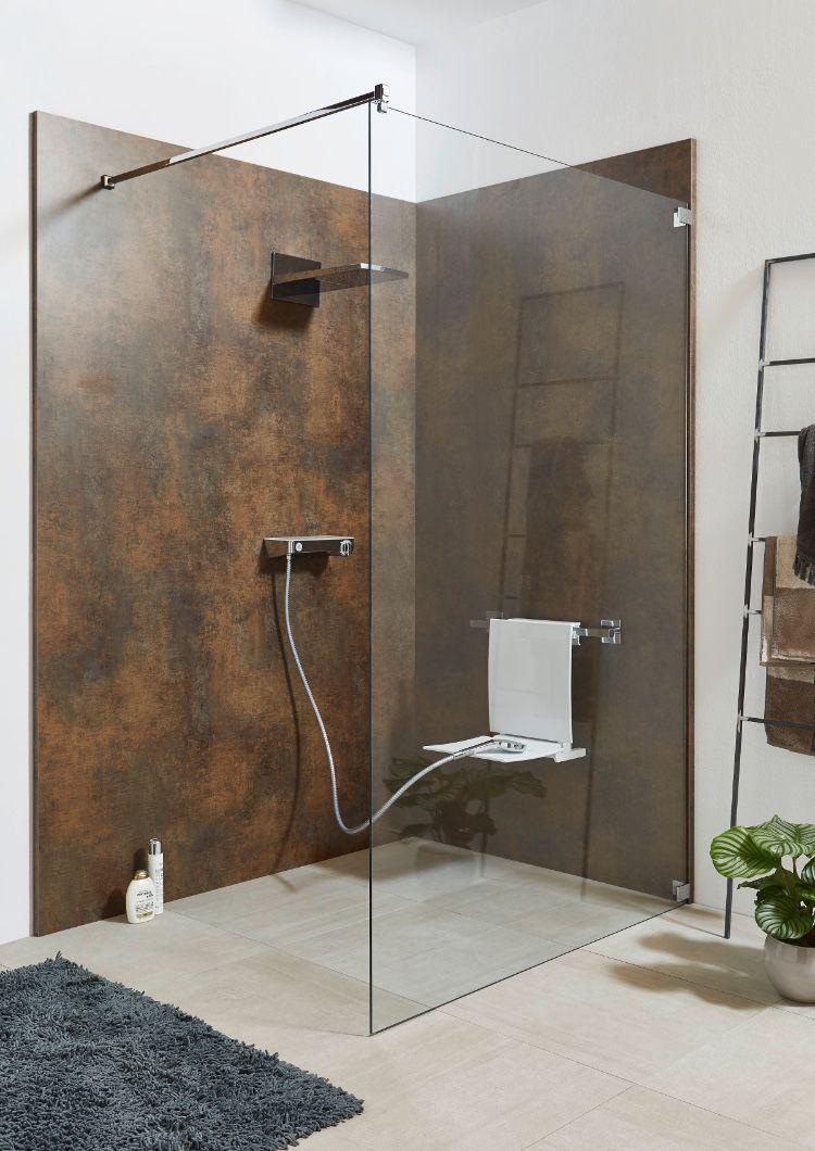 Fur Eine Schnelle Renovierung Wird Die Duschruckwand System Basic Von Sprinz Direkt Auf Alte Fliesen Montie In 2020 Duschruckwand Dusche Renovieren Duschsitz