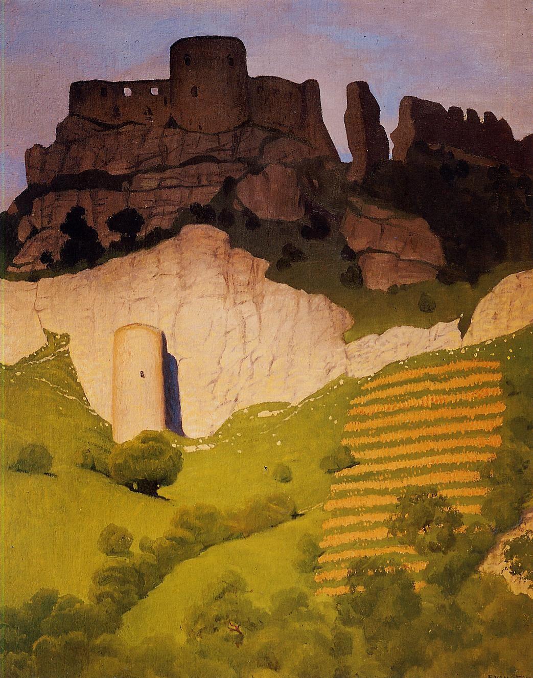 peira:    Felix Vallotton:  Chateau Gaillard at Andelys (1924) via WikiPaintings