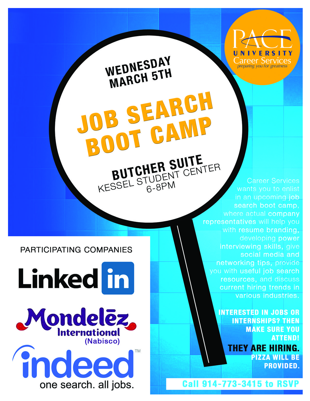 Job Search Boot Camp Butcher Suite Kessel Student Center 6 8pm Student Bootcamp Job Search