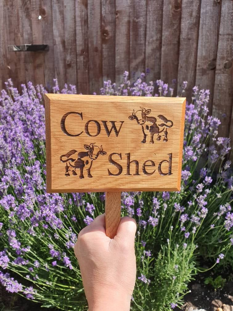 Personalised Garden Signs Etsy Garden Signs Cow Shed Large Sign