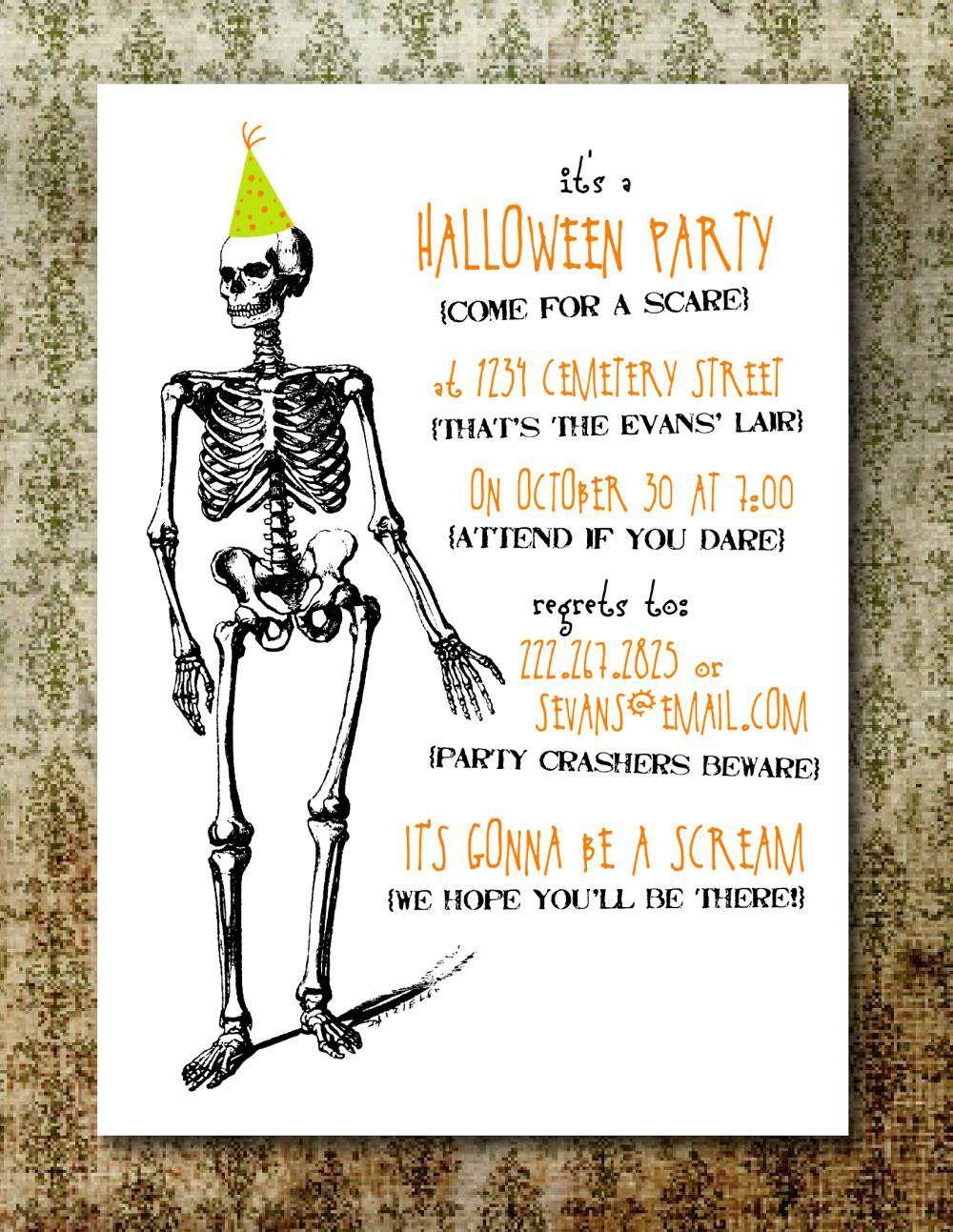 Free Printable Halloween Invitations For Adults I Free Halloween Party Invitations Halloween Birthday Party Invitations Printable Halloween Party Invitations