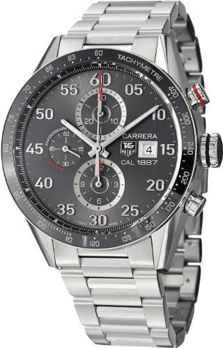 0a94fce3156f7 Tag Heuer Carrera Calibre 1887 Automatic Chronograph Grey Dial Stainless  Steel Mens Watch CAR2A11BA0799  3