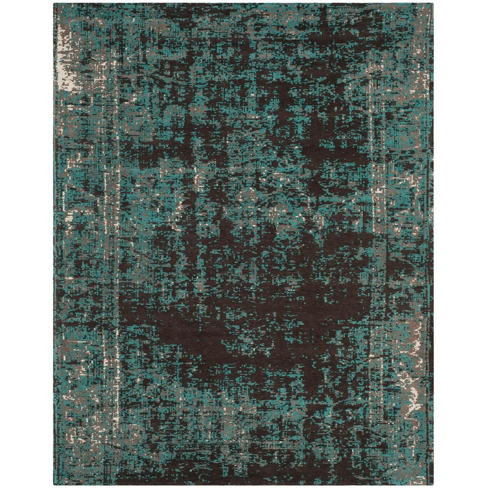 Safavieh Classic Vintage Teal Brown 8 Ft X 10 Ft Area Rug Area