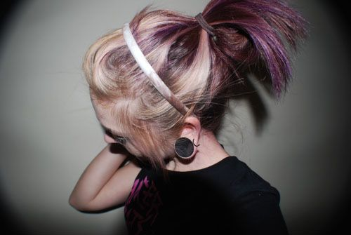 I like this too. The purple under the blonde...but its not too bleached blonde