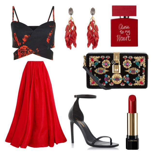 """""""❤🌹"""" by camille-hbrd on Polyvore featuring Reem Acra, Dolce&Gabbana, Yves Saint Laurent, Marni, Lancôme and Bella Freud"""