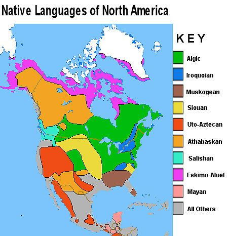 North america languages - maps picture | native american ...
